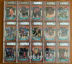 1986 Fleer Basketball Complete Set withstickers Michael Jordan RC #57, BGS 8 NM-MT