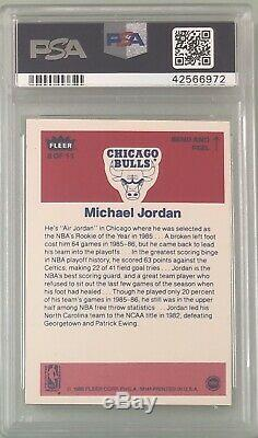 1986 Fleer Basketball Complete Sticker Set All Graded PSA 8 Includes Jordan