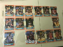 1986 Fleer Basketball Set 1-132 No Michael Jordan -10 Cards Psa Bgs