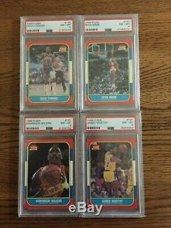 1986 Fleer Basketball Set Hi-Grade PSA 8 PSA 8.5 PSA 9 NQ 143/143 Jordan RC