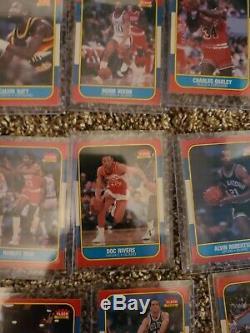1986 Fleer Basketball Set Lot 89/132 Cards No Duplicates, Commons, RCs