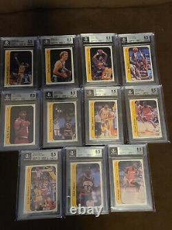 1986 Fleer Basketball Sticker Set (1-11) BGS 8.5 Michael Jordan. 5 From 9 Mint