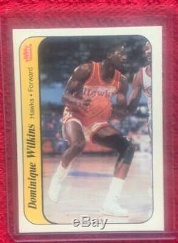 1986 Fleer Basketball Sticker Set 10/11 No Jordan With Superstars Olajuwon Nm-mt