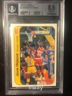 1986 Fleer Basketball Sticker Set Complete Bgs 8.5 Nm-mt ++ Michael Jordan Rc