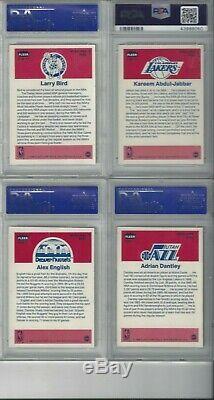1986 Fleer Bball Sticker Set Complete With Jordan All Psa 8! Psa Set Registered