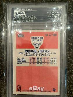1986 Fleer Psa 9 Complete Set 1-132 With Michael Jordan #57 Rc Nq