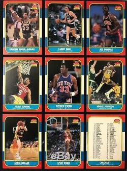 1986 Fleer Set Complete #1-132 1986 Fleer Michael Jordan RC #57 No Reserve! GOAT