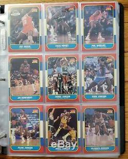 1986 Fleer basketball Set witho Michael Jordan's 131/132 WithStickers 10/11