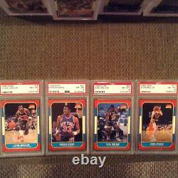 1986 Fleer basketball set All PSA 8, 8.5, 9 (NQ) No MJ 131/132