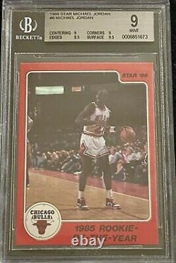 1986 Michael Jordan Star 10 Card Set All Graded BGS 9 High Subs