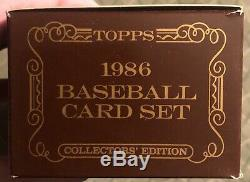 1986 Topps Tiffany Baseball Card Set Complete With Traded Set Factory Sealed