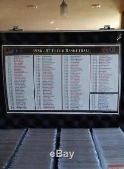 1986 fleer basketball set 131/132 Michael Jordan all psa 8 and better