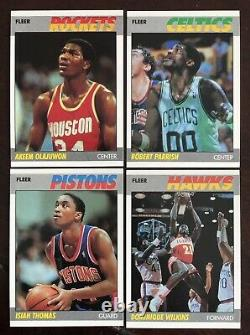 1987-88 FLEER BASKETBALL HIGH GRADE COMPLETE SET With STICKERS & PSA 8 LARRY BIRD