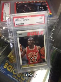 1987-88 Fleer Basketball Complete Set 1-132 & Stickers PSA 9 MINT Michael Jordan