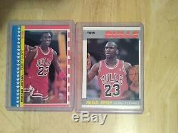 1987-88 Fleer Basketball Complete Set 1-132 withStickers 1-11 Jordan 2nd Year