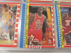 1987-88 Fleer Basketball Complete Set With Stickers Michael Jordan 2nd Year CLEAN