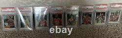 1987-88 Fleer Basketball PSA 9 Complete Set + Stickers 143 Cards