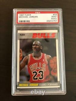 1987 Fleer Basketball 1-132 Complete Set MICHAEL JORDAN #59 PSA 9