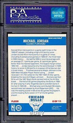 1987 Fleer MICHAEL JORDAN sticker #2 graded PSA 8 NM-MT