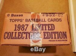 1987 Topps TIFFANY Factory Set CASE! SEALED! Original TapeSealsTags-1 week list
