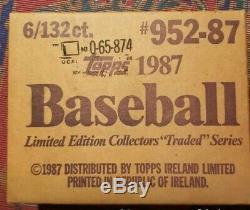 1987 Topps Tiffany Traded Sealed Set Of 6 individual sets