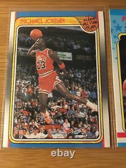 1988-89 Fleer Basketball Complete Set + Stickers Jordan Rodman Pippen Rookie
