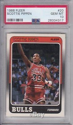 1988 Fleer Basketball Set (incl. Jordan Pippen Miller Rodman) PSA 10 GEM MT