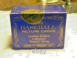 1989 Topps Traded Tiffany Baseball Complete Factory Sealed Set Ken Griffey Jr RC