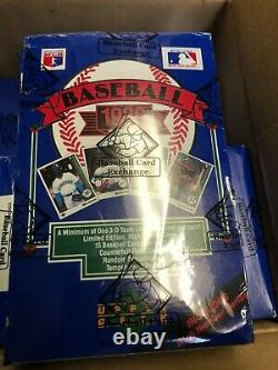 1989 Upper Deck Sealed Pack Box Includes High Series BBCE Wrapped Griffey PSA 10