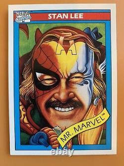 1990 Impel Marvel Universe Trading Card Series 1 NM 1-162 Full Set