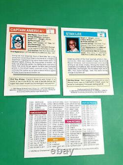 1990 MARVEL UNIVERSE SERIES 1 COMPLETE COMIC TRADING CARD SET 1-162 (1) Holo