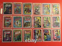 1990 Marvel Trading Cards Series 1 Complete Set 1-162 with Stan Lee