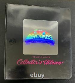 1990 Marvel Universe Premier Edition Complete Set 1-162 + Holograms 1-5 & Binder