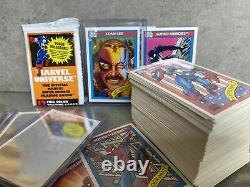 1990 Marvel Universe Series 1 Trading Cards COMPLETE BASE SET, #1-162 + HOLO SET
