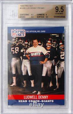 1990 Pro Set Ludwell Denny #338b Bgs 9.5 Gem Mint Beckett! Pop 1 The Best
