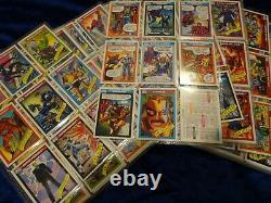 1990 impel marvel universe series 1 trading cards, complete set + 5 holograms