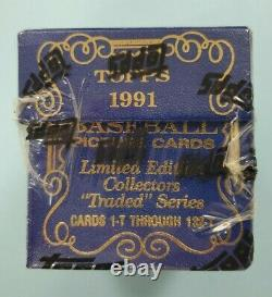 1991 Topps Tiffany Traded Complete Factory Sealed Baseball Card Set