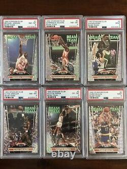 1992-93 Stadium Club Beam Team COMPLETE Set 1-21 NBA Jordan, Shaq