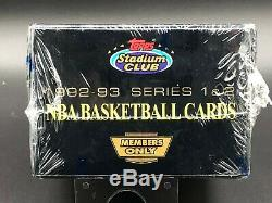 1992/93 Topps Stadium Club Members Only Complete Factory Set #1-2 and Beam Team
