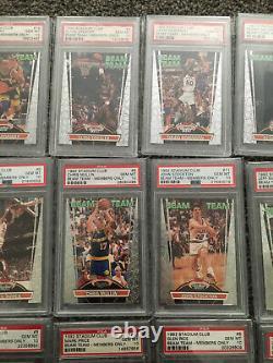 1992 Beam Team PSA 10 Set No Shaq Rodman Michael Jordan PSA 10