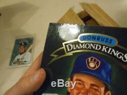 1992 Donruss Diamond Kings SUPER SET Jumbo 5x7 Frank Thomas Will Clark NEW & BOX