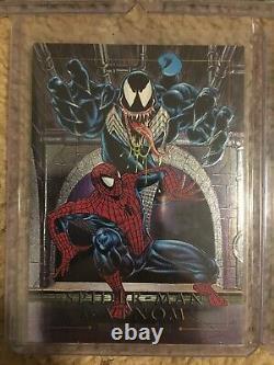 1992 Marvel Masterpieces COMPLETE BATTLE ETCH FOIL INSERT CARD SET, #1D-5D NM/M