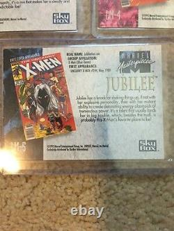 1992 Marvel Masterpieces COMPLETE LOST LADIES INSERT CARD SET, #LM1-LM5 NM/M