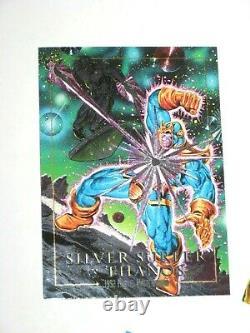 1992 Marvel Masterpieces Dyna-etch Foil Battle Spectra 5 Card Insert Chase Set