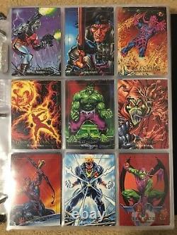 1992 Marvel Masterpieces Trading Cards COMPLETE BASE SET, #1-100 NM/M! Joe Jusko