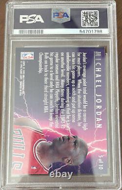 1993-94 Fleer Ultra Scoring Kings Michael Jordan PSA 8 5 of 10 Set Break