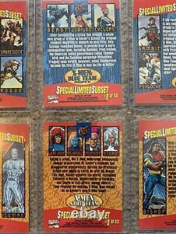 1994 Fleer Ultra Marvel X-Men COMPLETE TRIPTYCH WALMART INSERT CARD SET, #1-6