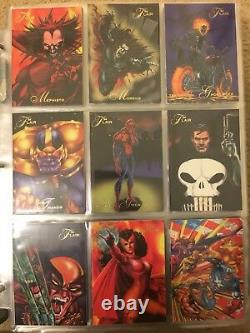 1994 Marvel Flair Annual Trading Cards COMPLETE BASE SET, #1-150 NM/M! Fleer