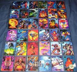 1994 Marvel Masterpieces Powerblast, Gold & Silver Holofoil Chase Sets