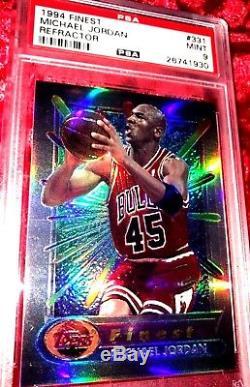 1994 Topps Finest #331 Michael Jordan Refractor A Top 10 Collector Set Psa 9